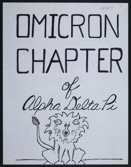 Omicron Chapter History, September 1976-May 1977