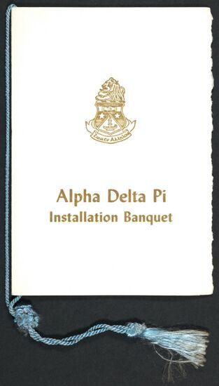 Epsilon Gamma Chapter Installation Banquet Program, March 20, 1965