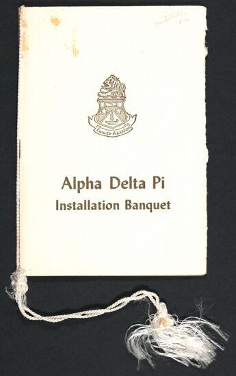 Gamma Omega Chapter Installation Banquet Program, April 7, 1956