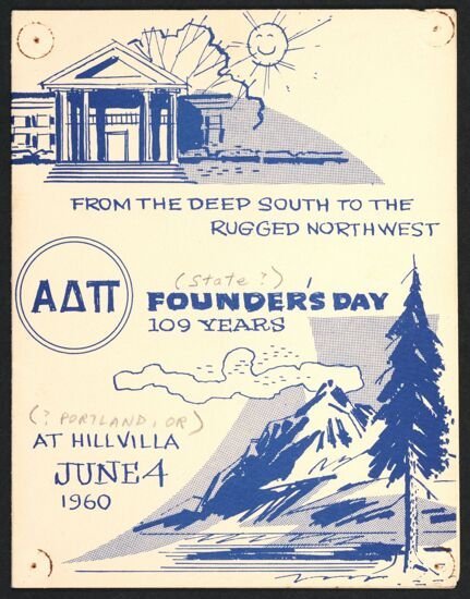Portland Alumnae Association Founders' Day Program, June 4, 1960