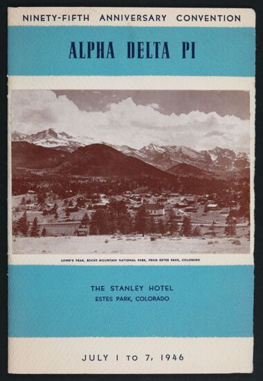 Alpha Delta Pi Ninety-Fifth Anniversary Convention Program, July 1-7, 1946