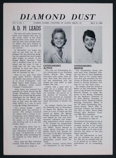 Diamond Dust, Vol. 11, No. 1, May 16, 1960