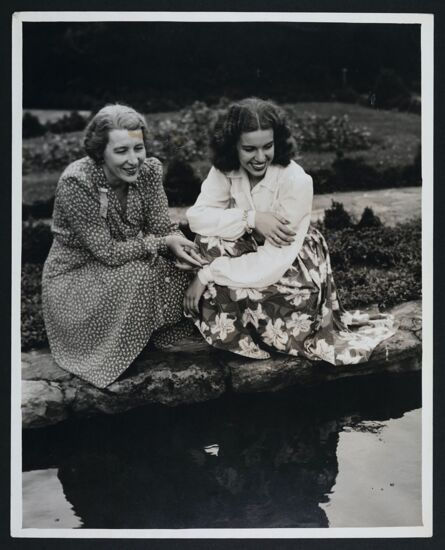 Adele Conselyea and Daughter by Water at Grand Convention Photograph, 1941