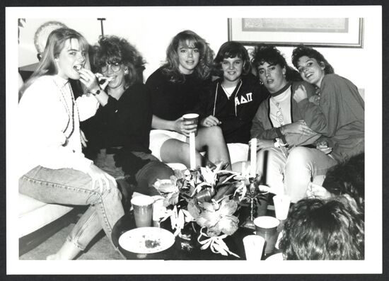 Six Epsilon Kappa Chapter Members at Christmas Party Photograph, December 1990