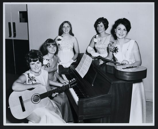Musical Entertainers at Epsilon Chi Chapter Installation Banquet Photograph, May 10, 1969