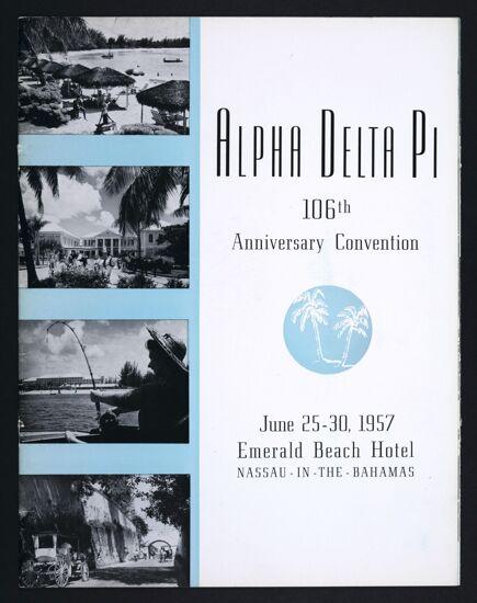 Alpha Delta Pi 106th Anniversary Convention Program, June 25-30, 1957