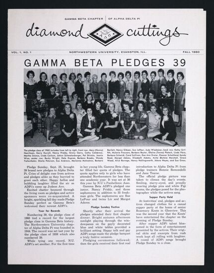Diamond Cuttings, Vol. 1, No. 1, Fall 1960