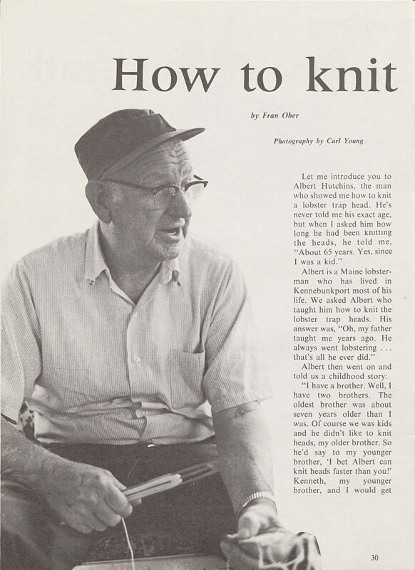 How to Knit a Lobster Trap Head