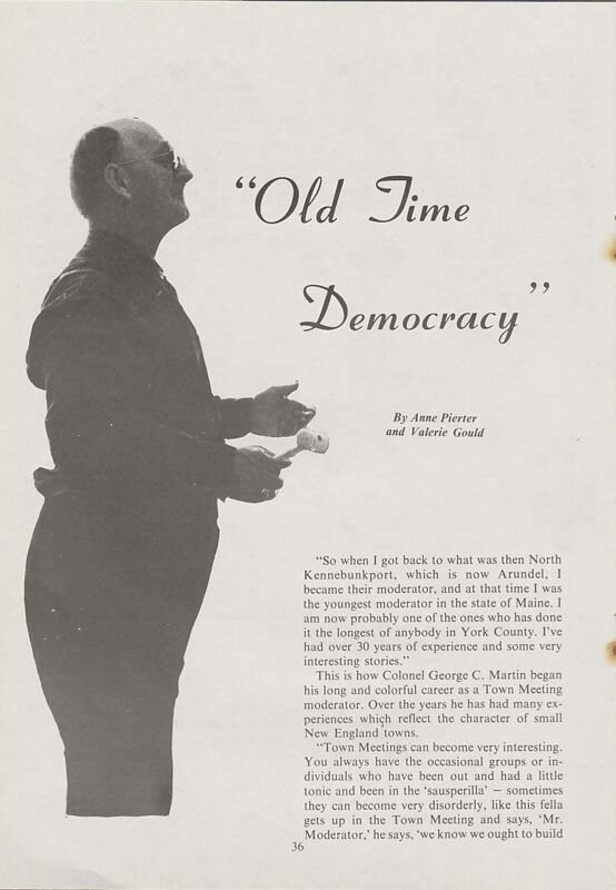 Old Time Democracy