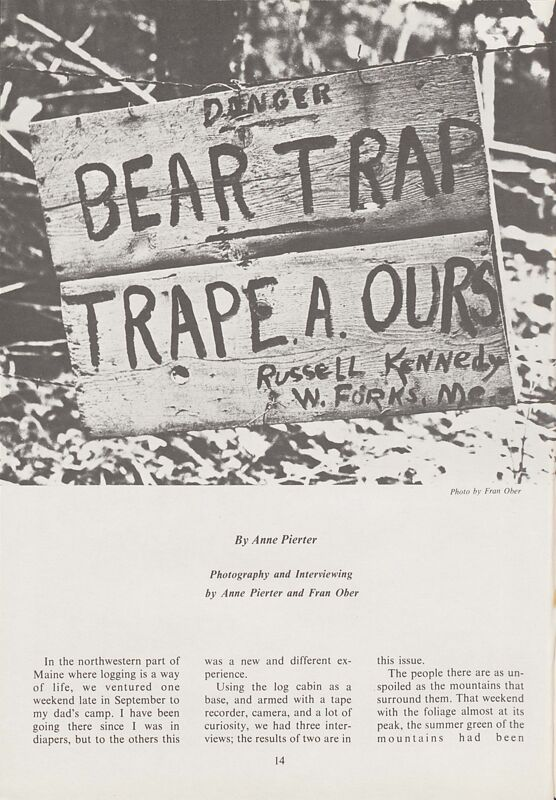 Bear Trapping