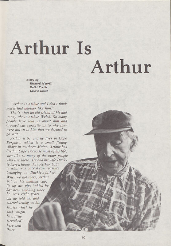 Arthur is Arthur