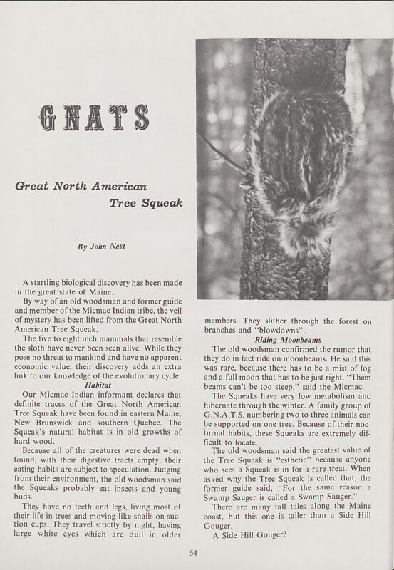 Gnats: The Great North American Tree Squeak