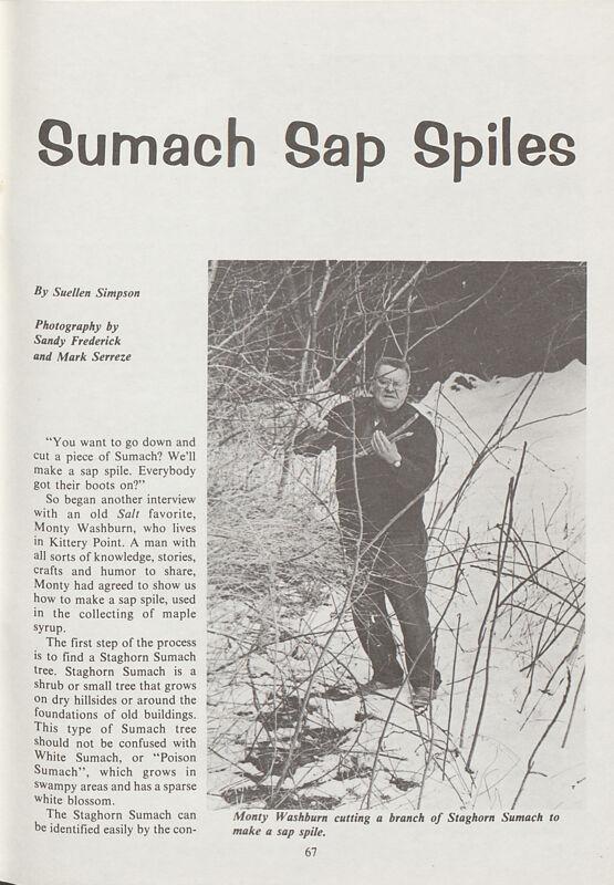 Sumach Sap Spiles