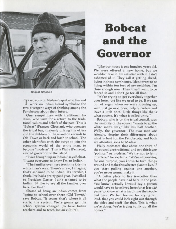 Bobcat and the Governor