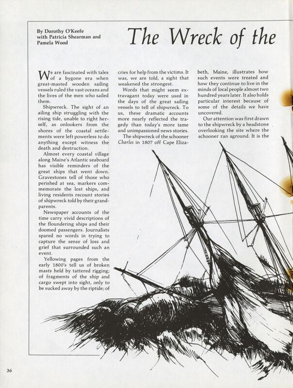 Wreck of the Schooner Charles
