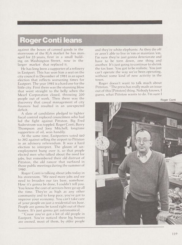 Pro-Pittston: Roger Conti