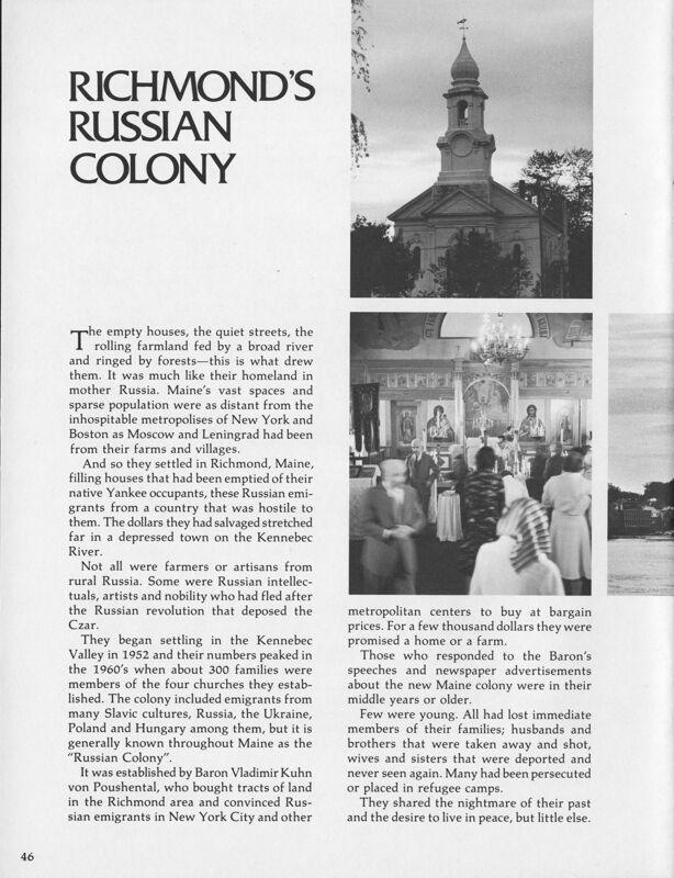 Richmond's Russian Colony