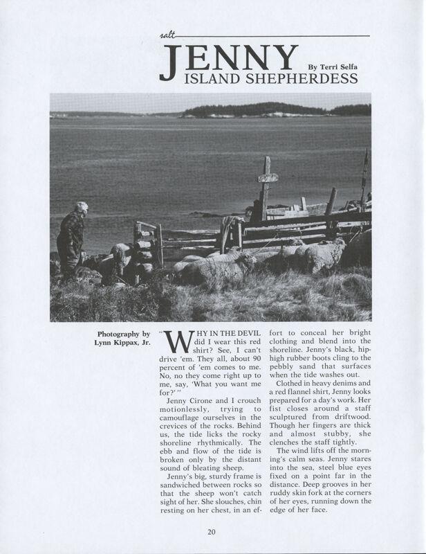 Jenny, Island Shepherdess