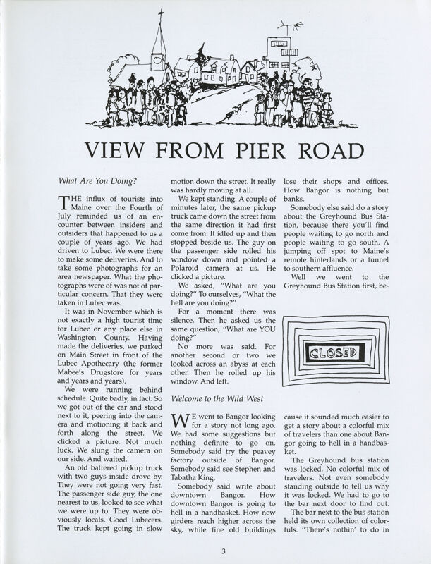 August 1987 Salt Magazine, View From Pier Road