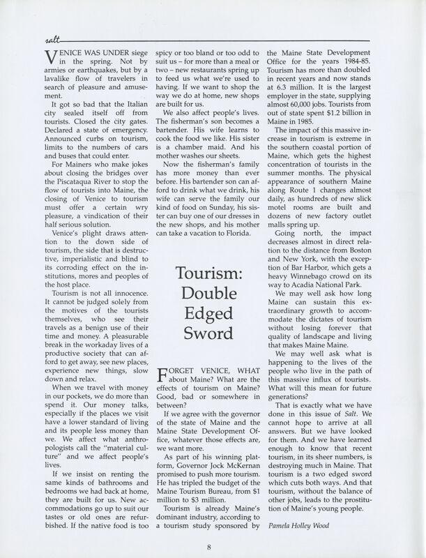 Tourism: A Double Edged Sword