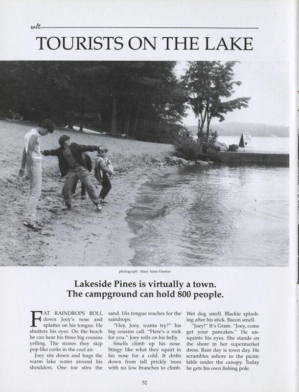 Tourists on the Lake