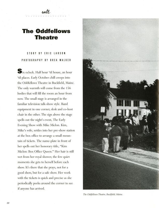 The Odd Fellows Theatre