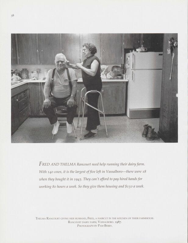 Cutting Hair, Vassalboro, 1987
