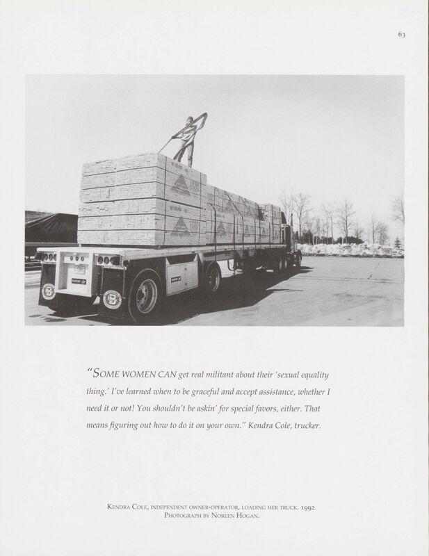 Kendra Cole Loading Her Truck, Bath, 1992