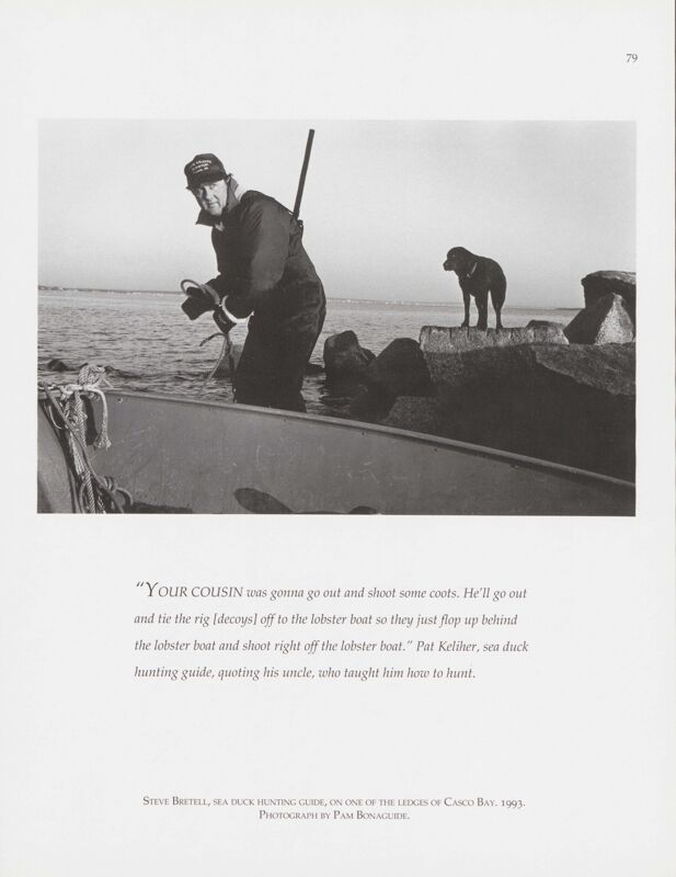 Sea Duck Hunter, Casco Bay, 1993