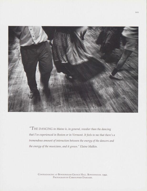 Contradancing at Bowdoinham Grange Hall, Bowdoinham, 1992