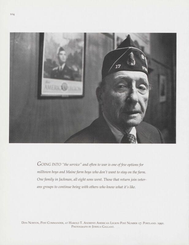 American Legion Post Commander, Portland, 1991