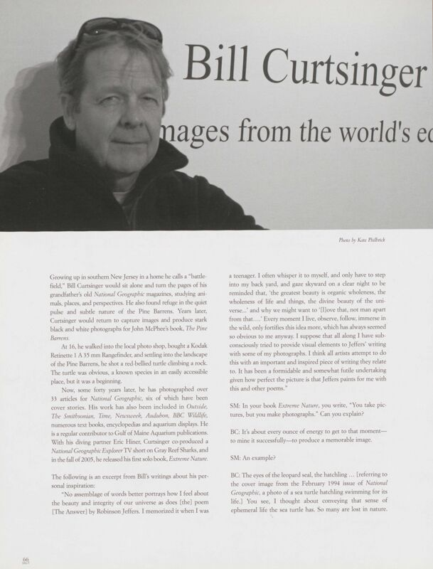 An Interview with Bill Curtsinger