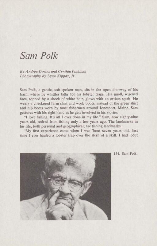 Seafaring: Sam Polk
