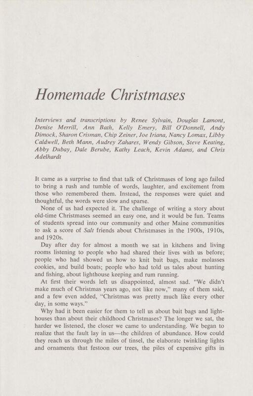 Homemade Christmases
