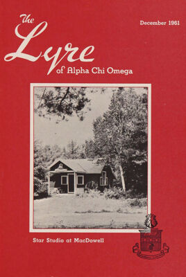 The Lyre of Alpha Chi Omega, Vol. 65, No. 2, December 1961