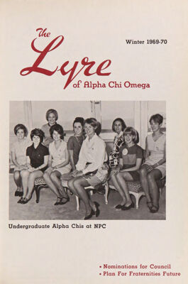 The Lyre of Alpha Chi Omega, Vol. 73, No. 2, Winter 1969-70