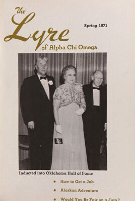 The Lyre of Alpha Chi Omega, Vol. 74, No. 3, Spring 1971
