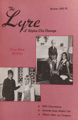 The Lyre of Alpha Chi Omega, Vol. 75, No. 2, Winter 1971-72