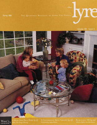 The Lyre of Alpha Chi Omega, Vol. 105, No. 3, Spring 2002