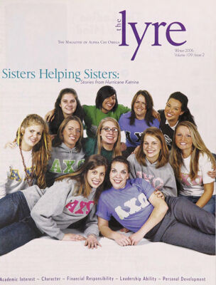 The Lyre of Alpha Chi Omega, Vol. 109, No. 2, Winter 2006