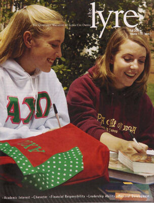 The Lyre of Alpha Chi Omega, Vol. 110, No. 1, Fall 2006