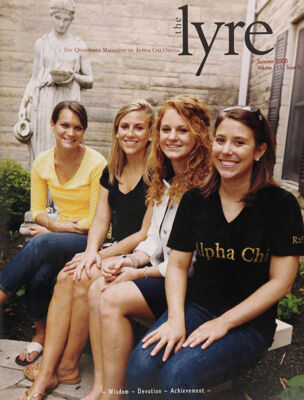 The Lyre of Alpha Chi Omega, Vol. 111, No. 4, Summer 2008