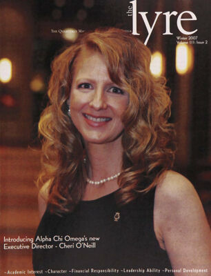 The Lyre of Alpha Chi Omega, Vol. 111, No. 2, Winter 2007