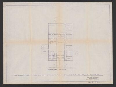 Delta Zeta Chapter House Design Study Blueprint