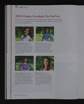 2015-16 Chapter Consultants: The Final Four