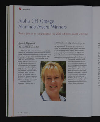 Alpha Chi Omega Alumnae Award Winners, Fall 2015