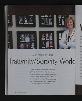 A Leader in the Fraternity/Sorority World, Fall 2015