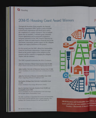 2014-15 Housing Grant Award Winners, Fall 2015