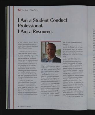 I Am a Student Conduct Professional. I Am a Resource., Fall 2015