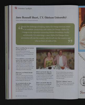 Volunteer Spotlight: Jane Bonnell Short, Fall 2015